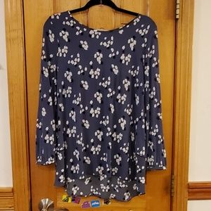 Ann Taylor LOFT Floral Pattern Blouse Medium